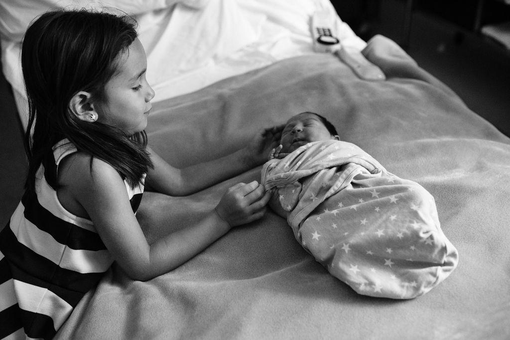 girl and newborn-pensacola newborn photographer