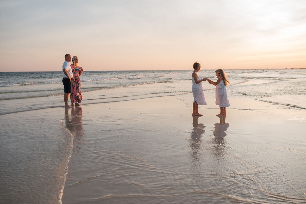 family at beach-pensacola family photographer