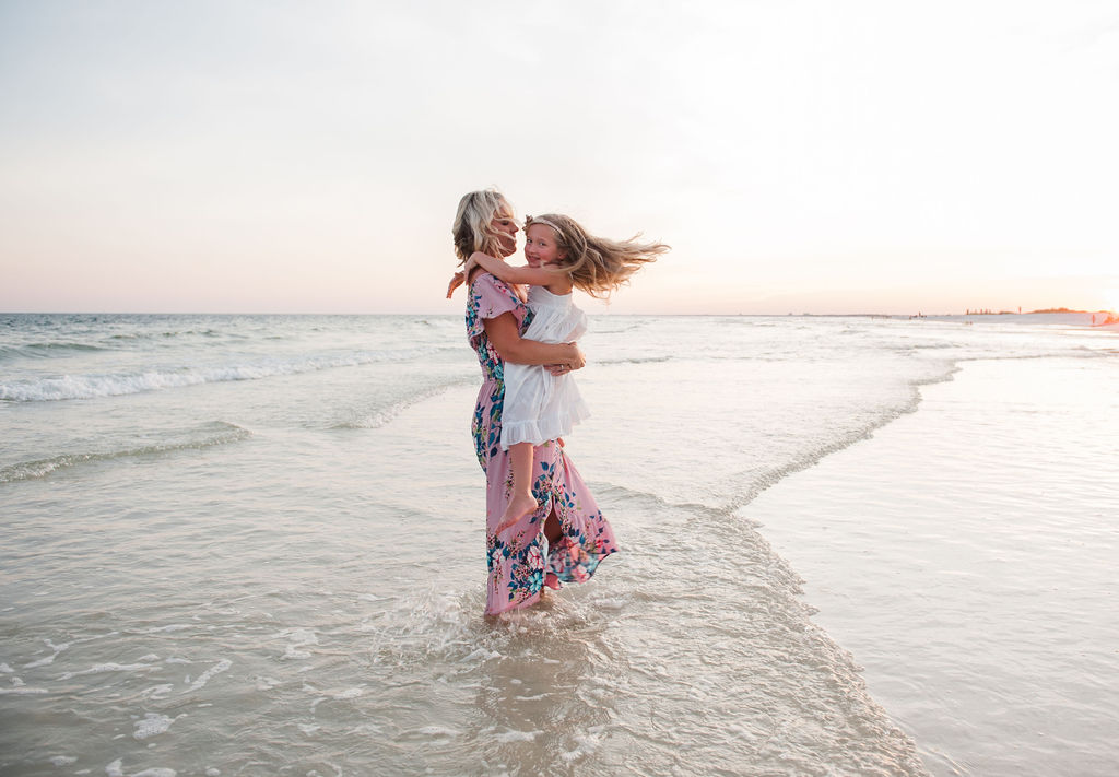 mom swinging girl-pensacola family photographer