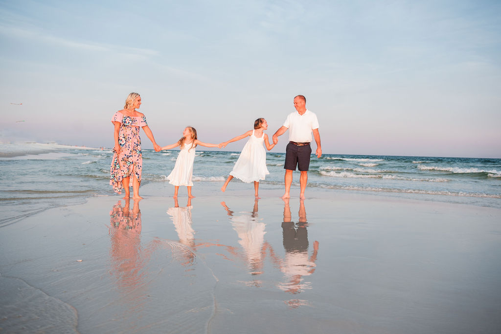family by water-Pensacola Family Photographer-Ann Mangum Photography
