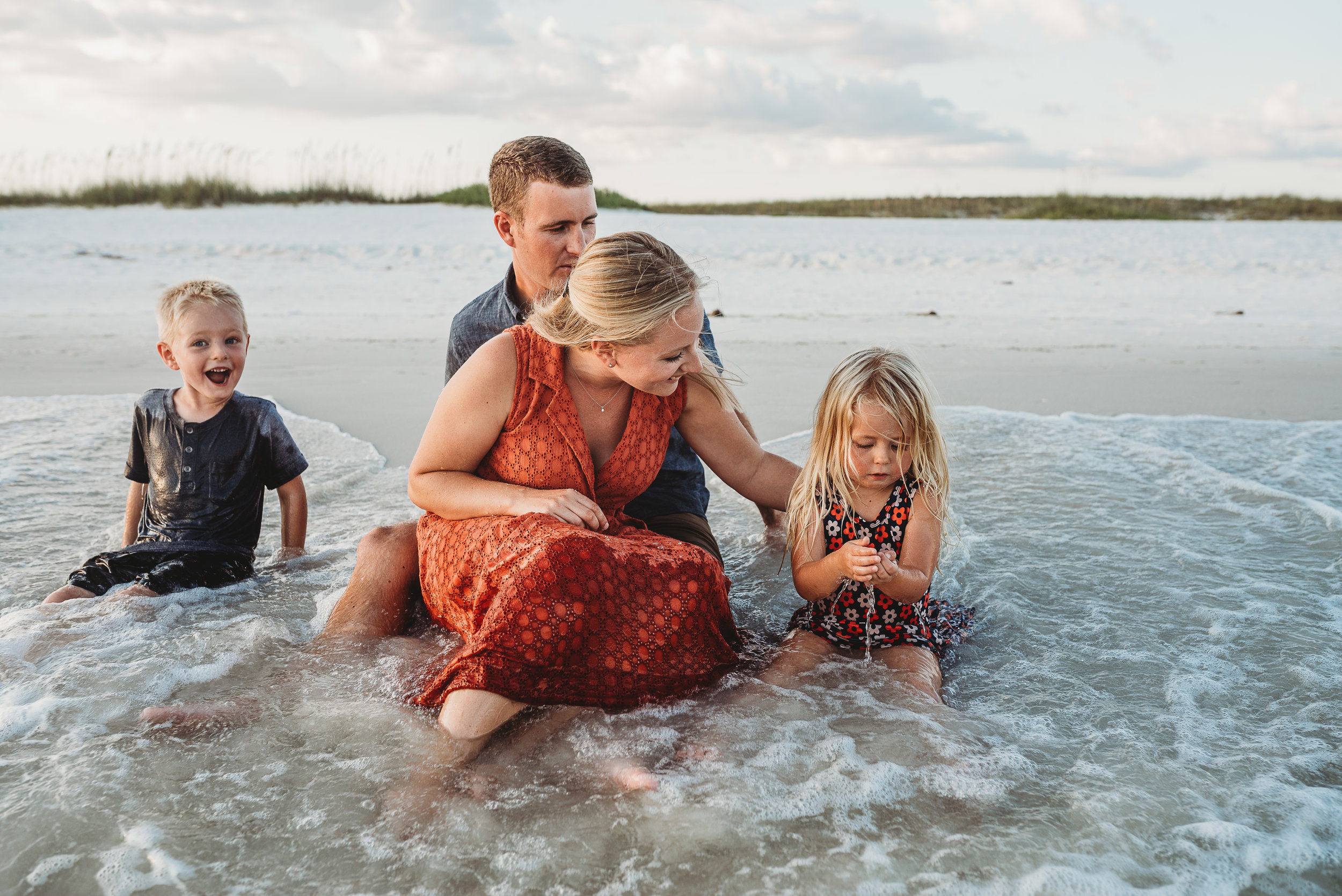 family in water-pensacola Family photographer-Ann Mangum photography