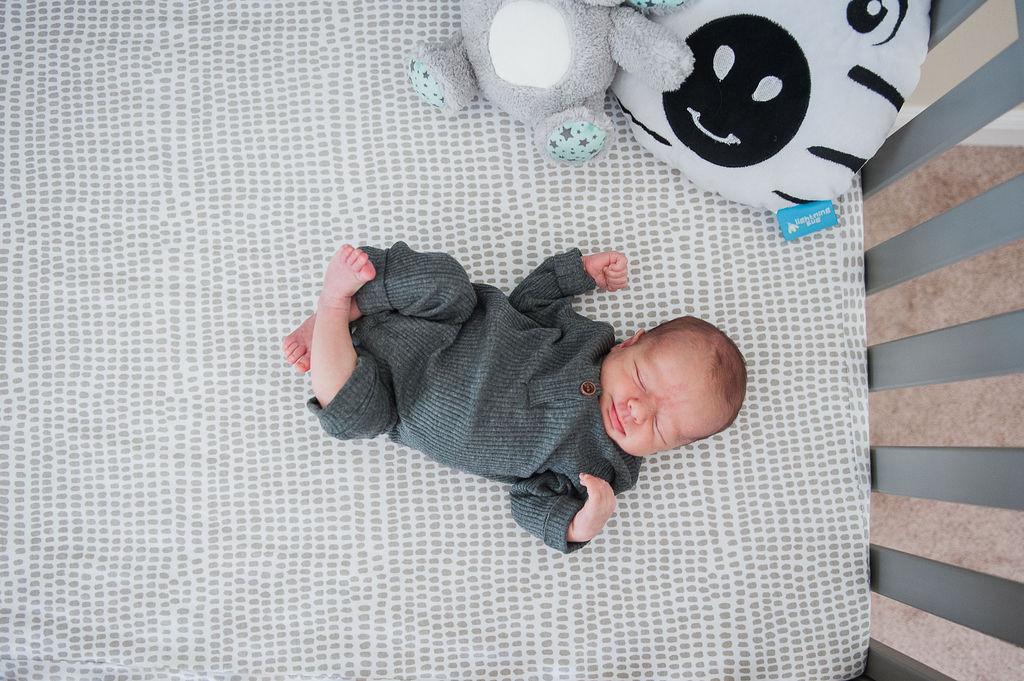 baby in crib-Pensacola newborn photographer-Ann Mangum Photography