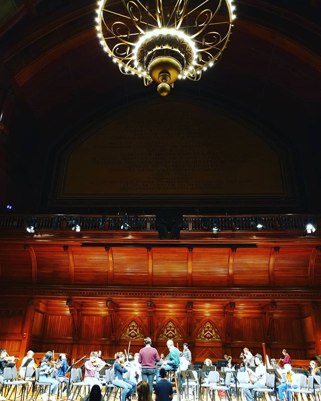 A new point of view! We are excited to see everyone tomorrow at 8PM for our concert in Sanders Theater