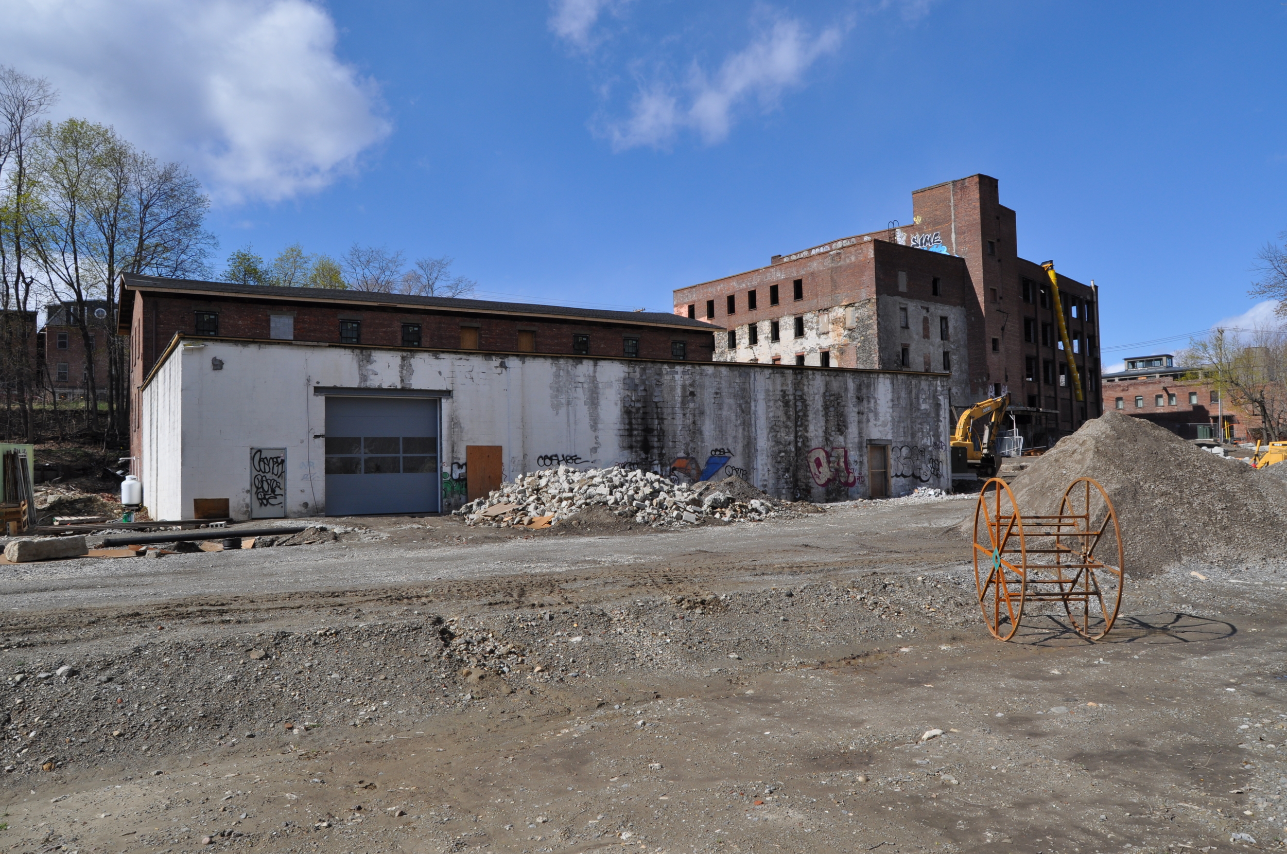 View of the brewery production space from the Fishkill Creek