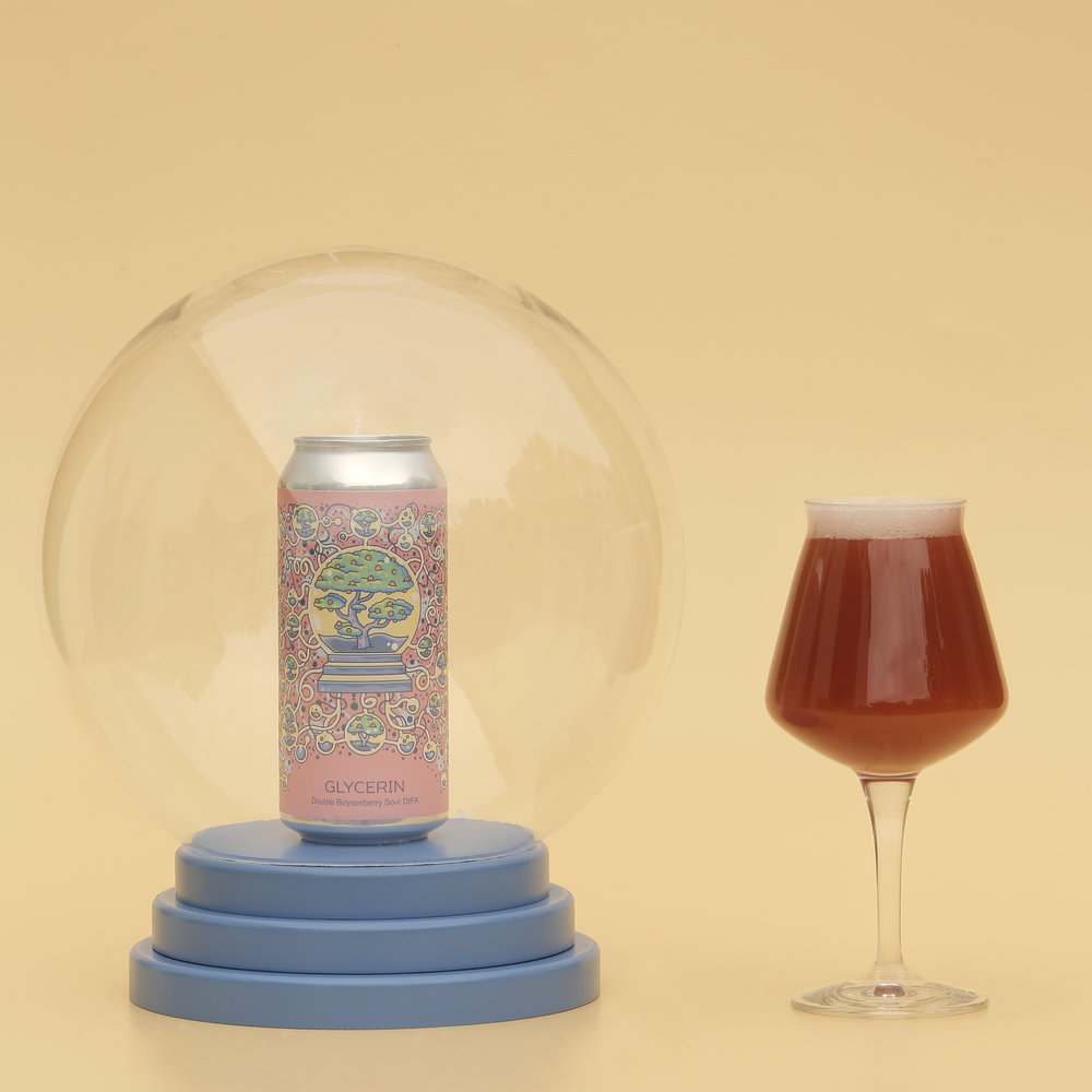 Photo of Double Boysenberry Glycerin in a can in globe and Teku