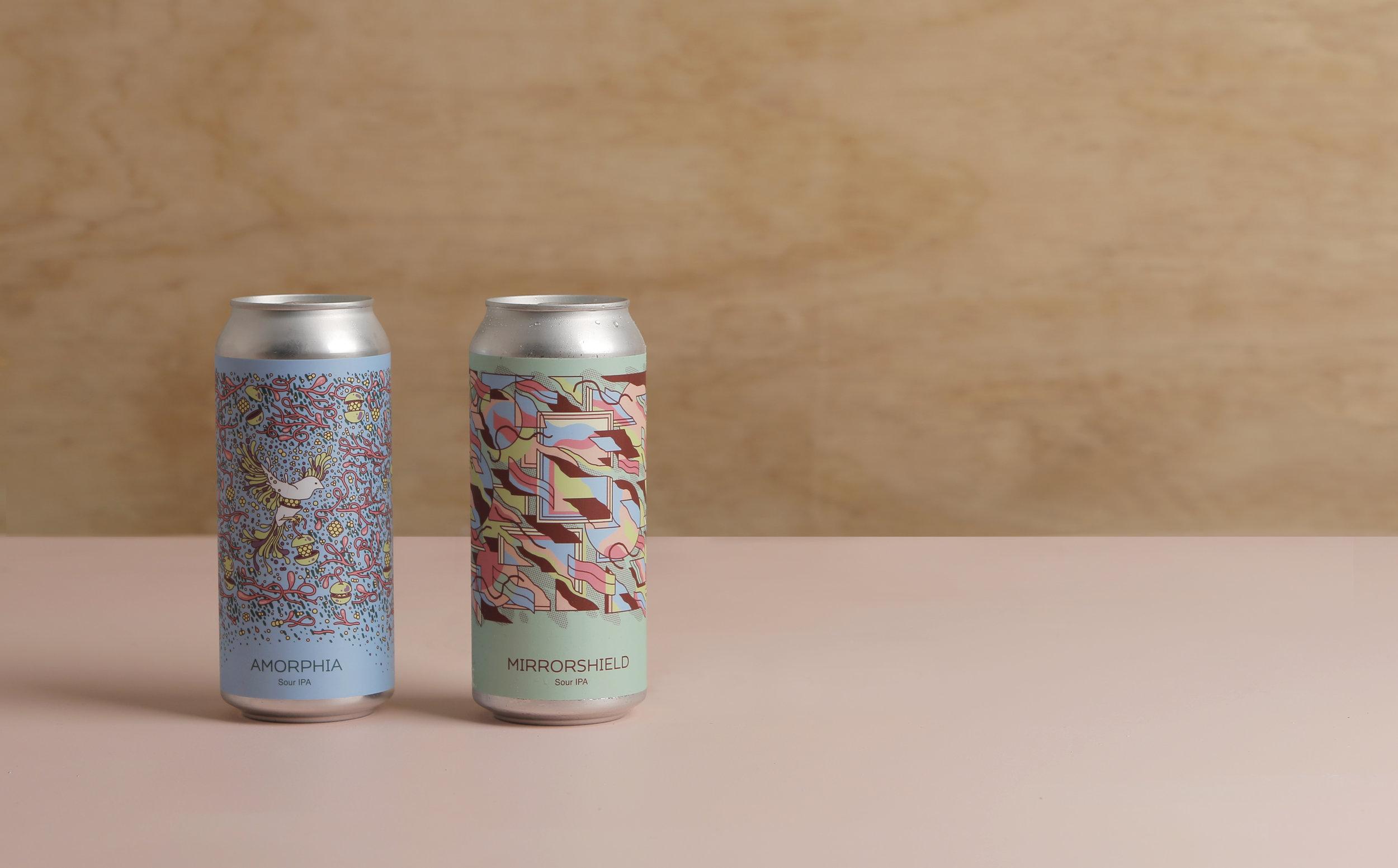 Amorphia and Mirrorshield cans