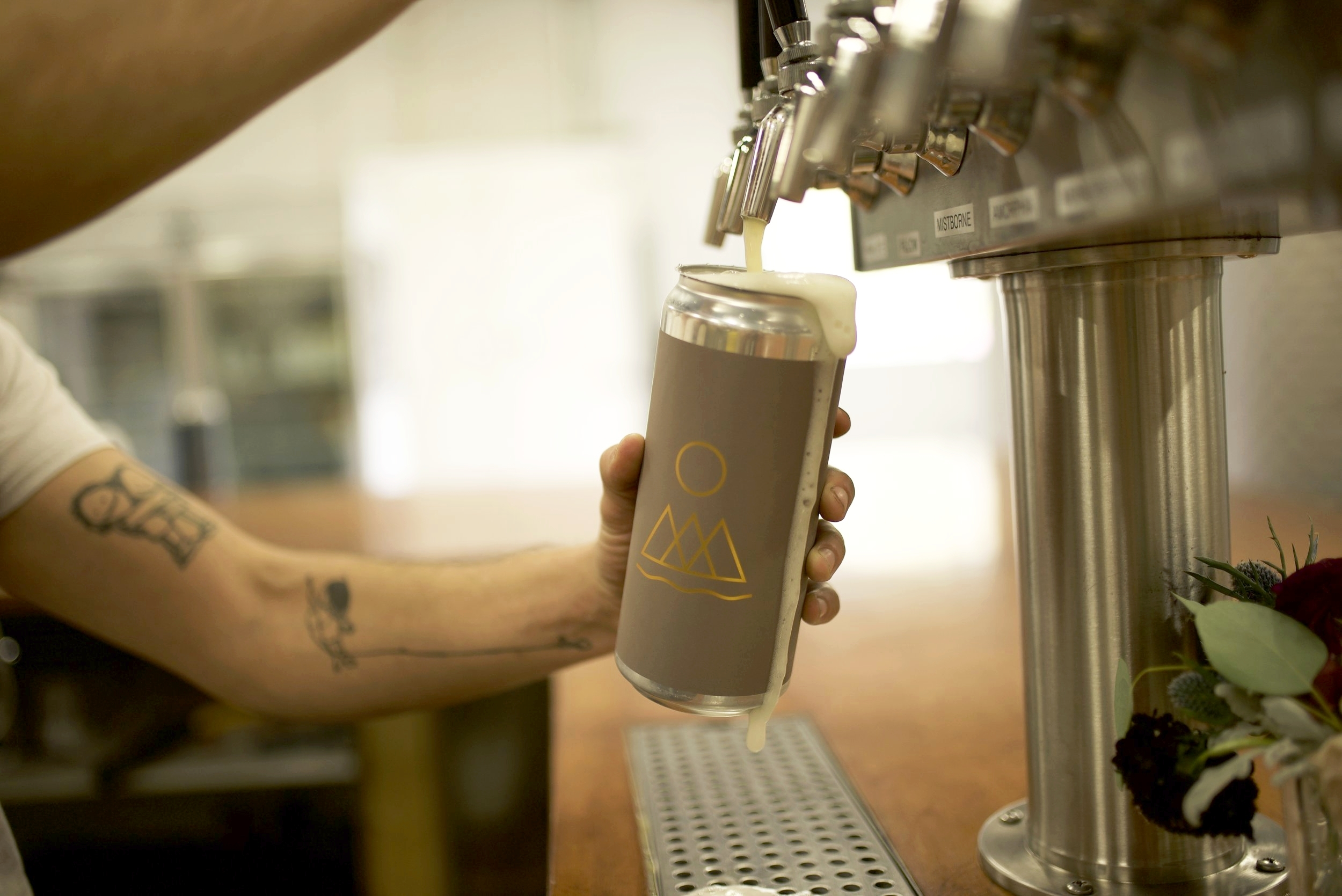 Photo of one of our crowlers being filled