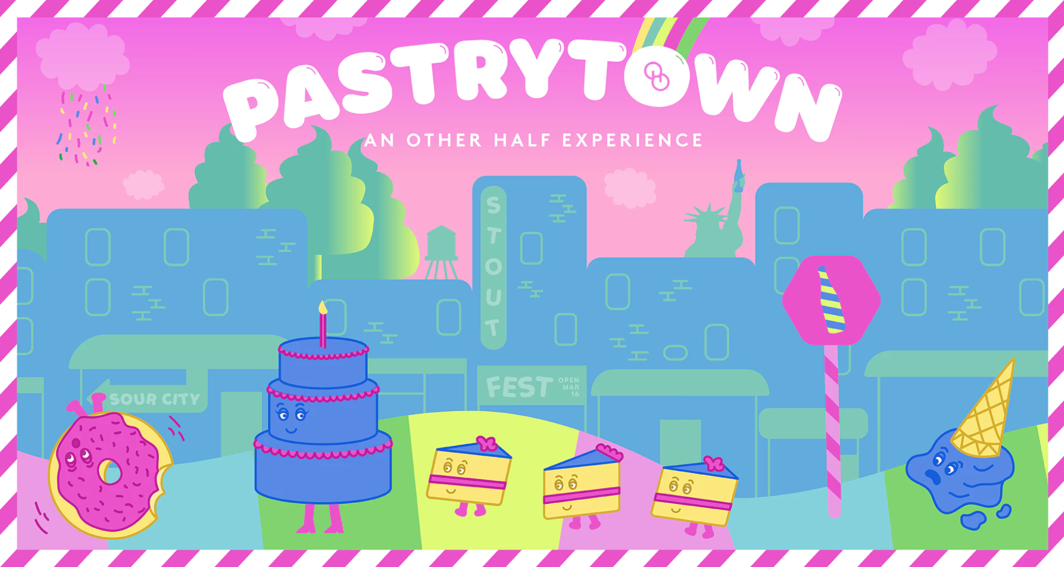 Flyer for Pastrytown at Other Half Brewery on March 16th.
