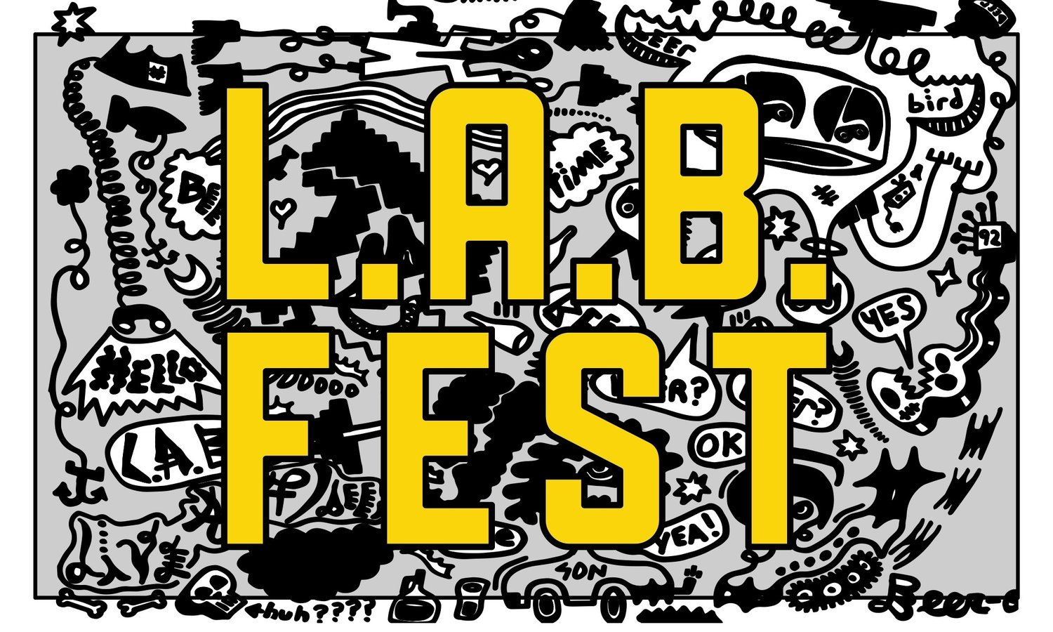 Flyer for L.A.B. Fest 2019