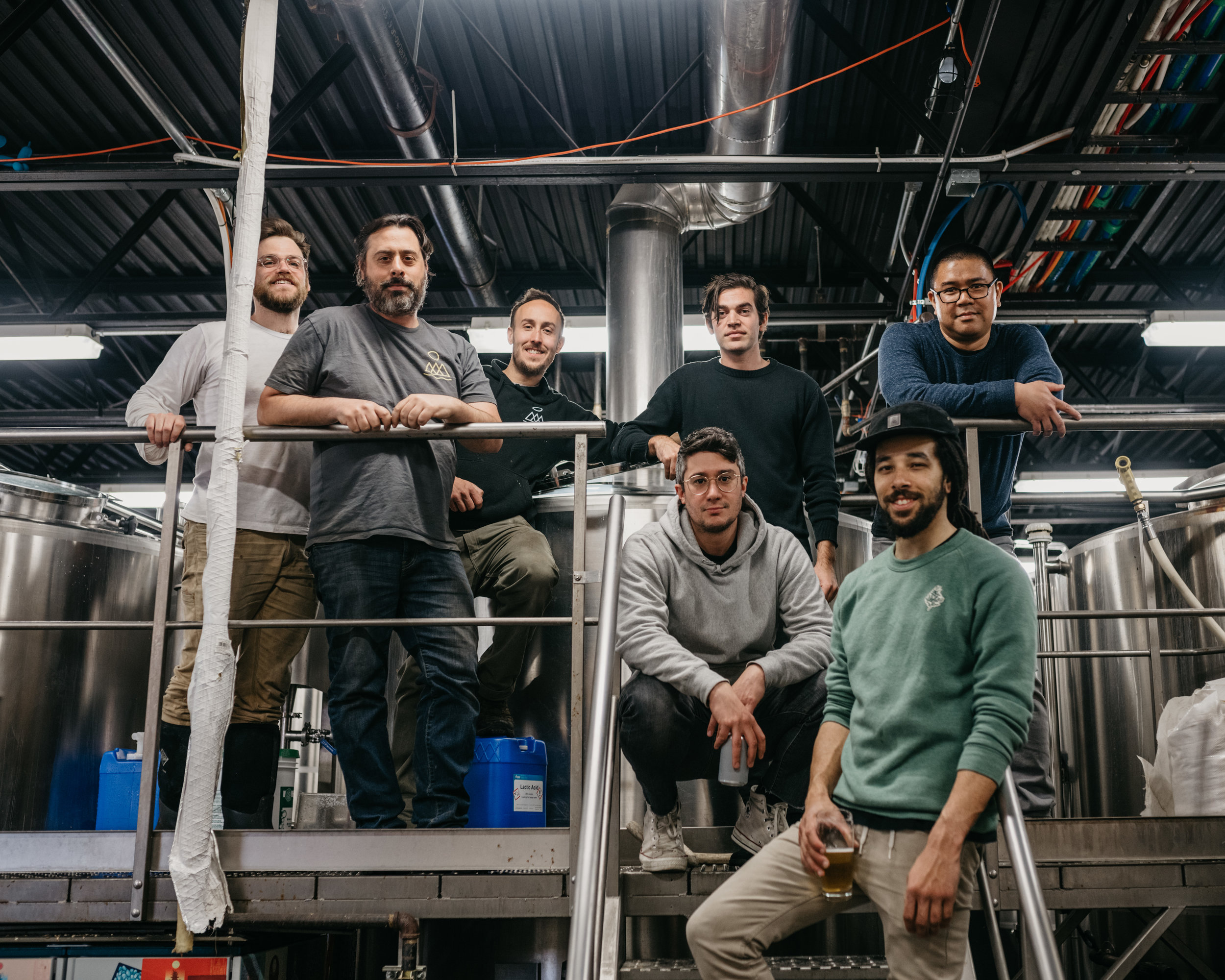 Photo of all the brewers involved in the collaboration