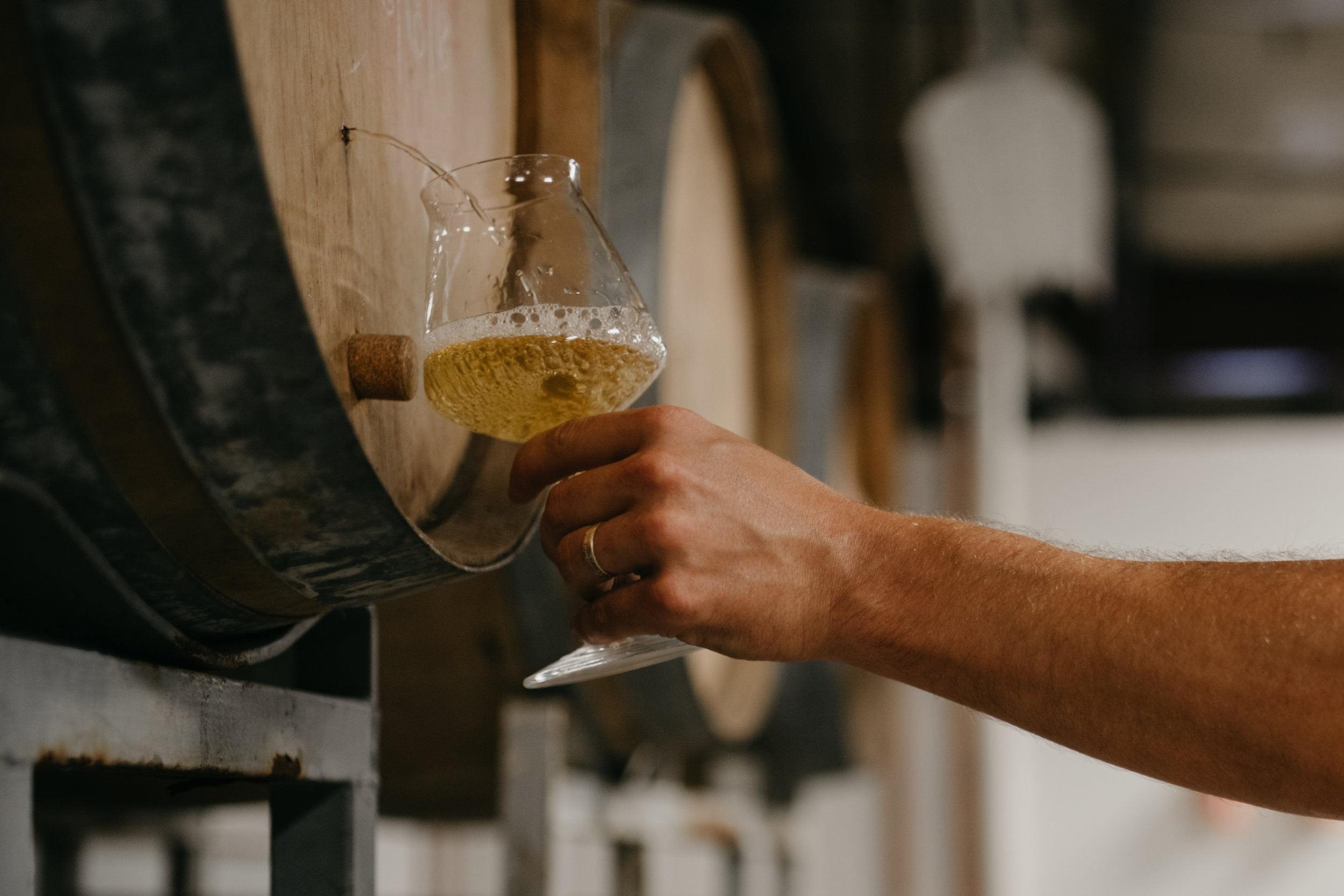 Valley Beer poured from the barrel
