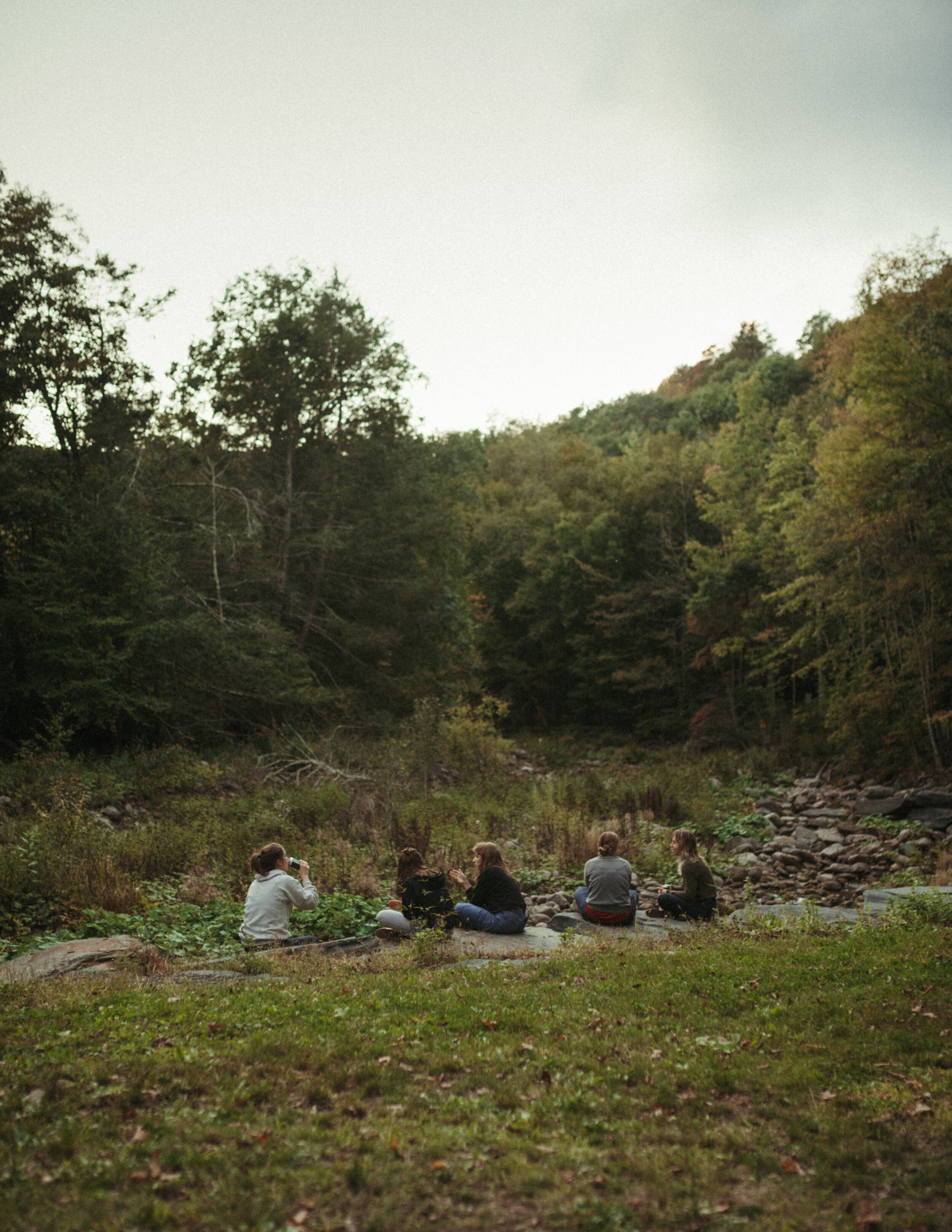 Photo of our employees by the creek