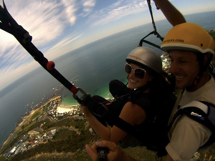 Paraglide over Cape Town