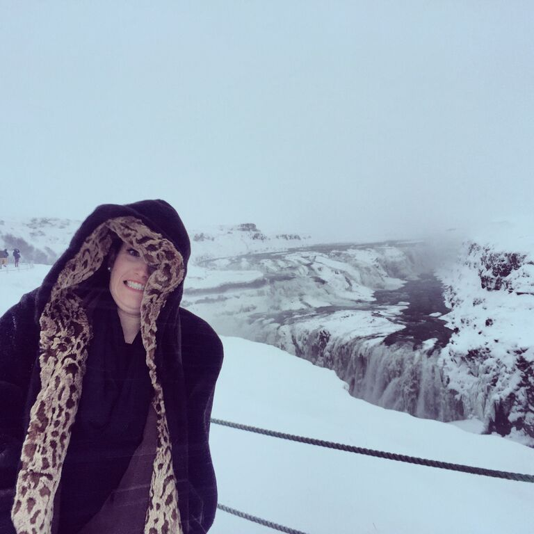 I did the Golden Circle on a really crummy day. Here I am freezing at Golfoss
