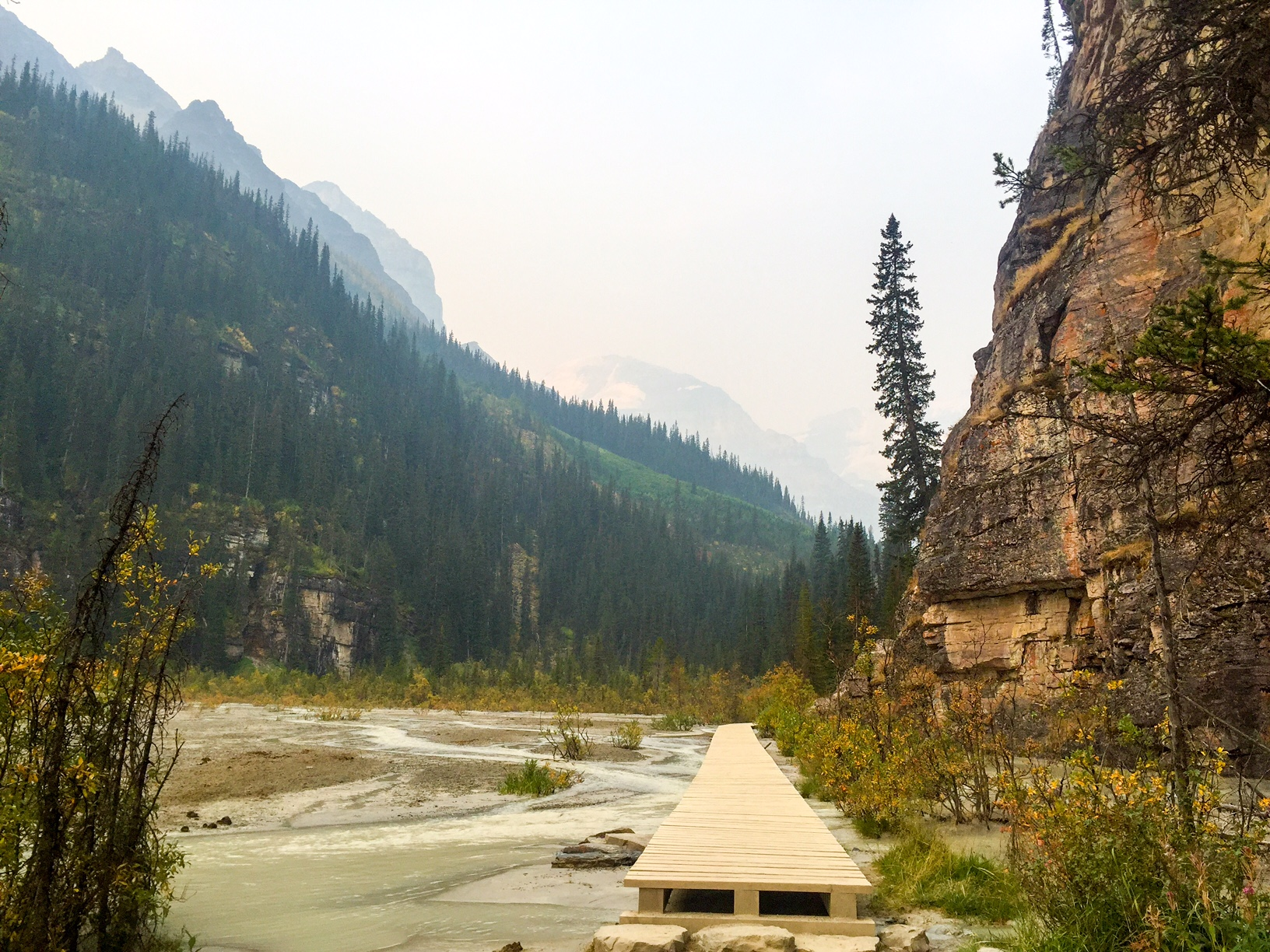 The hike starts at Lake Louise...just keep following the path allllll around