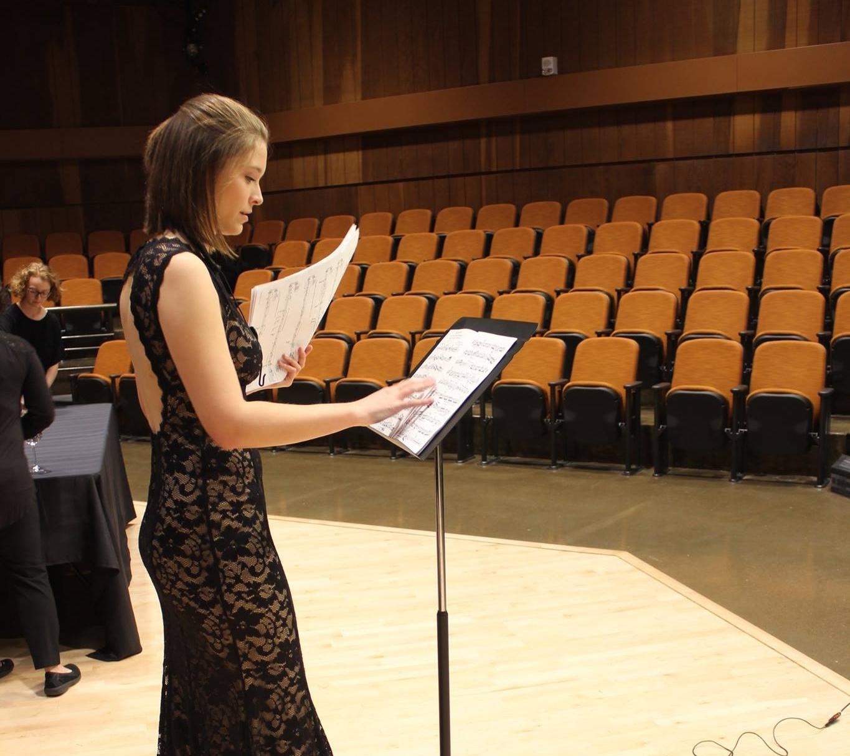 Dempsey prepares for a recital.