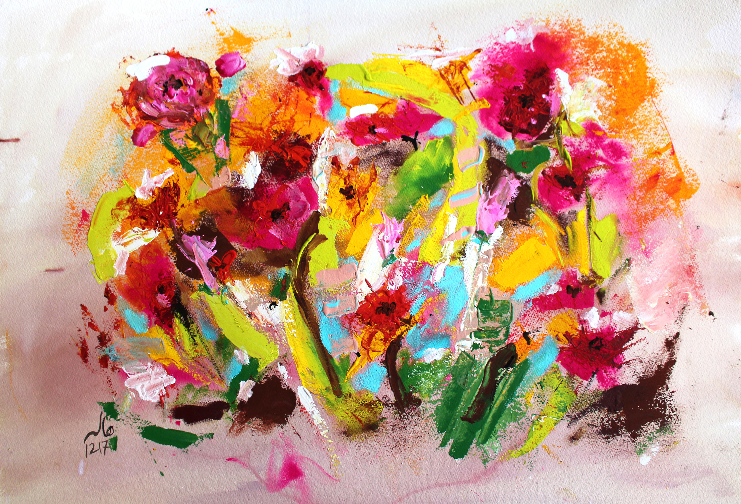 Flowers under the snow, 2017 - SOLD