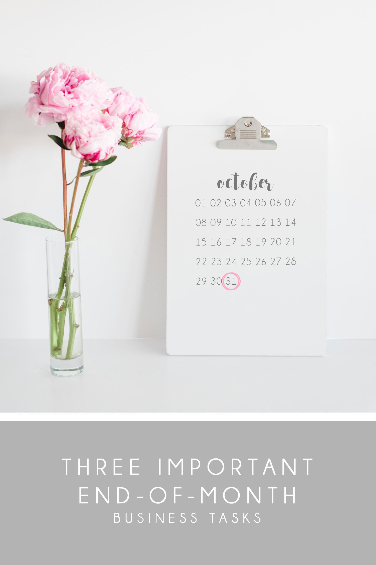 3 End-of-Month Business Tasks | Aceti Design Co.