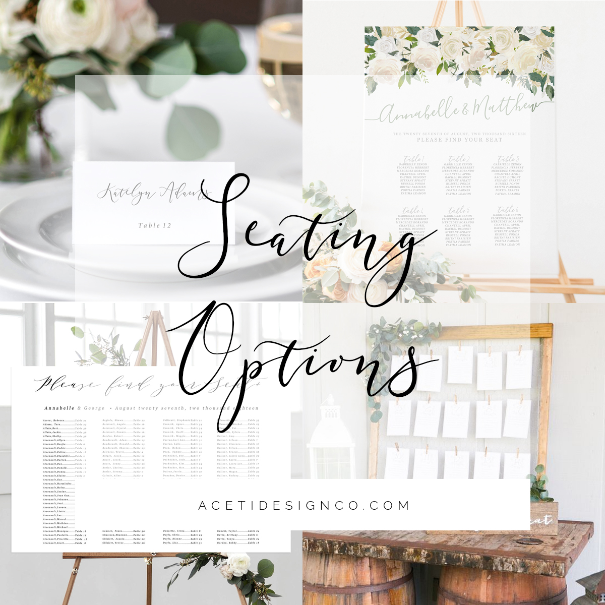 Seating Charts and Escort Cards