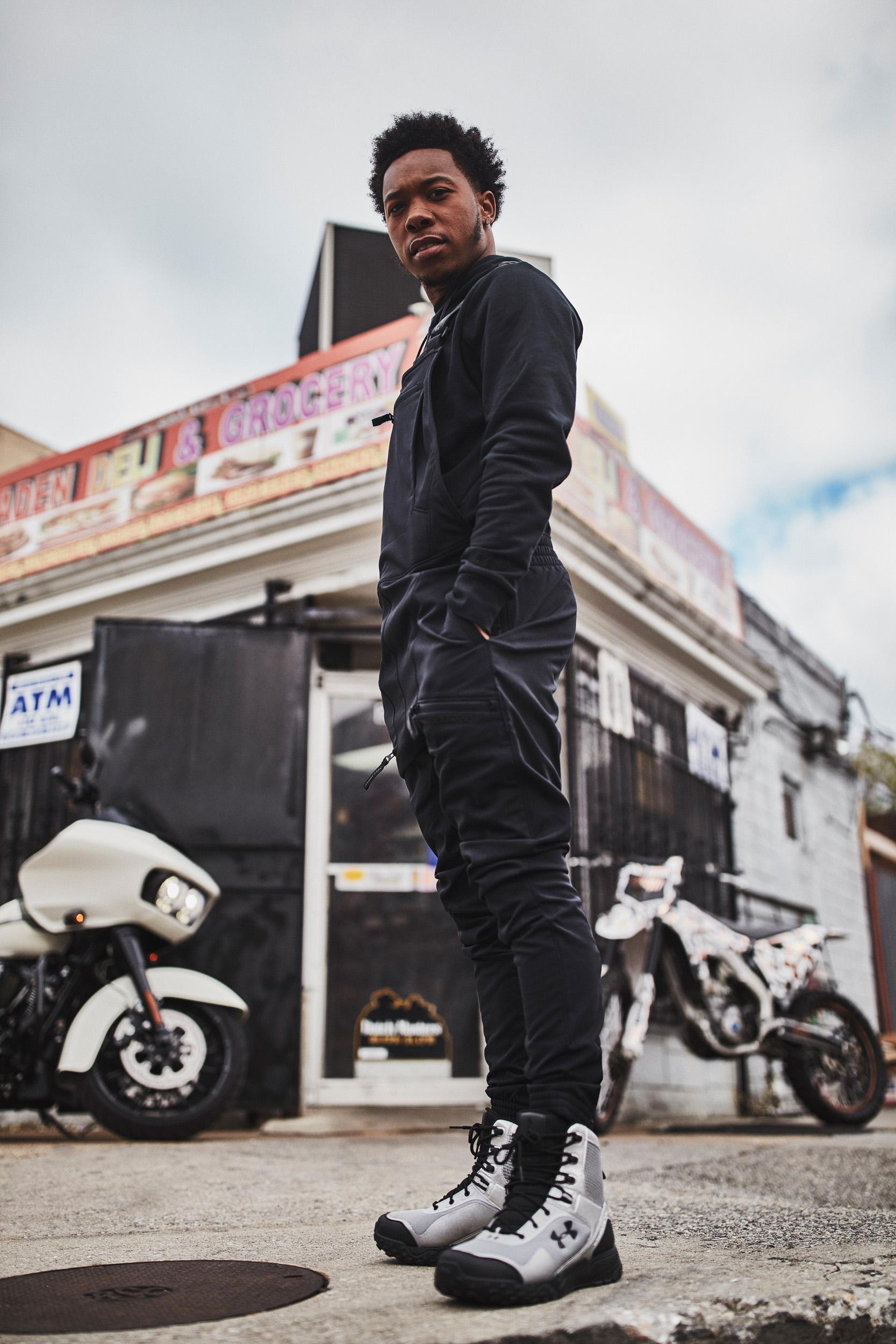 Chino Braxton, Baltimore Motocross athlete wearing the UA Pursuit bib