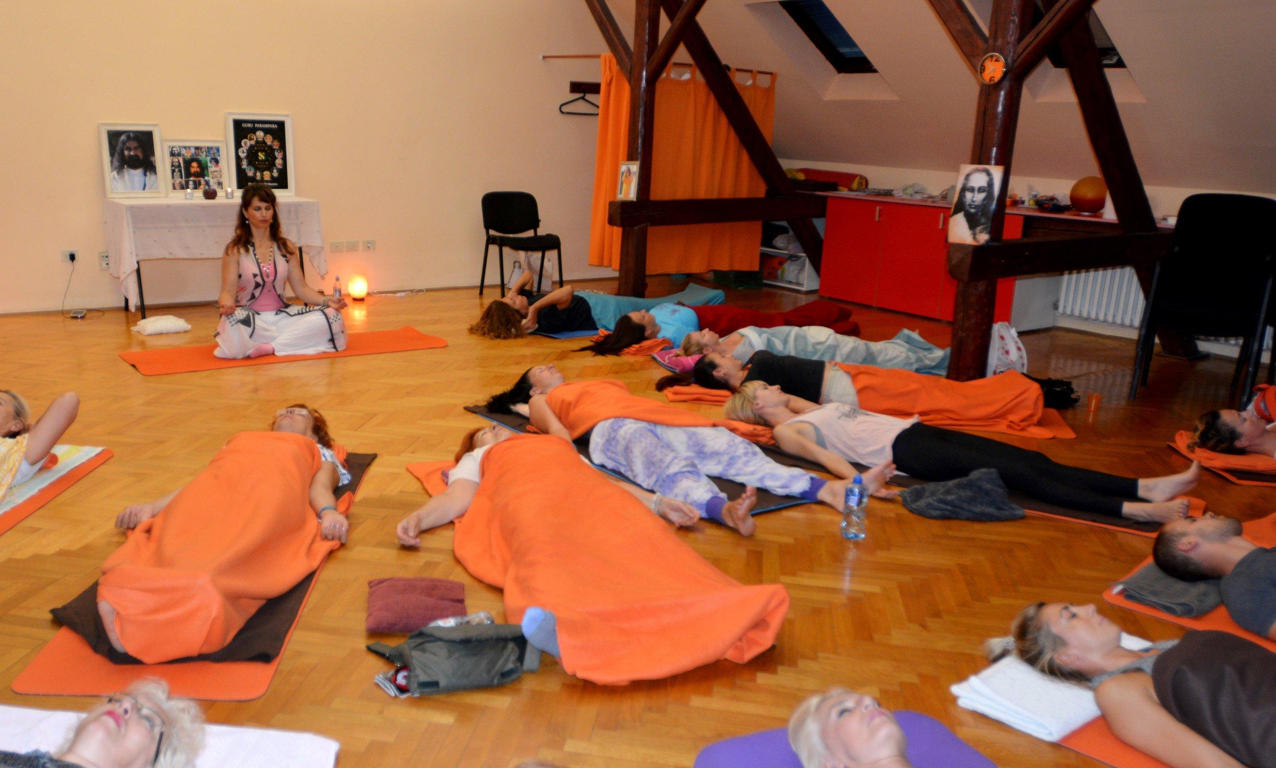 - Devi conducting Awakening Yoga Nidra in Novi Sad, Serbia, Oct 2017