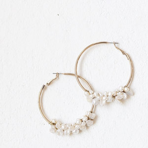 Fresh Water Pearl Hoops