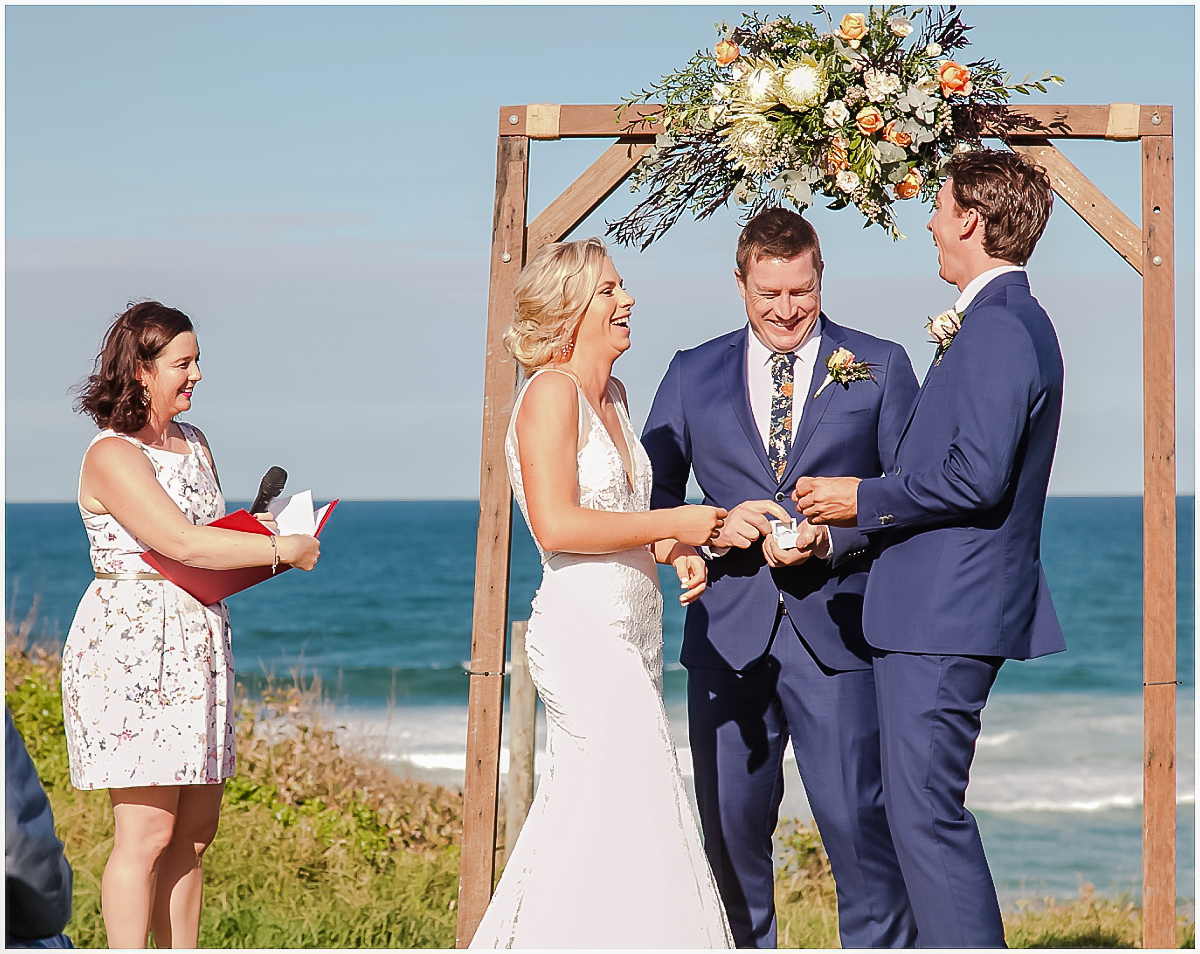 Mark and Alana's destination wedding on the Sunshine Coast.  It was a beautiful beach wedding at Point Arkwright, just south of Coolum and Noosa. .Sunshine Coast wedding photographer, images by Lou O'Brien www.imagesbylouobrien.com