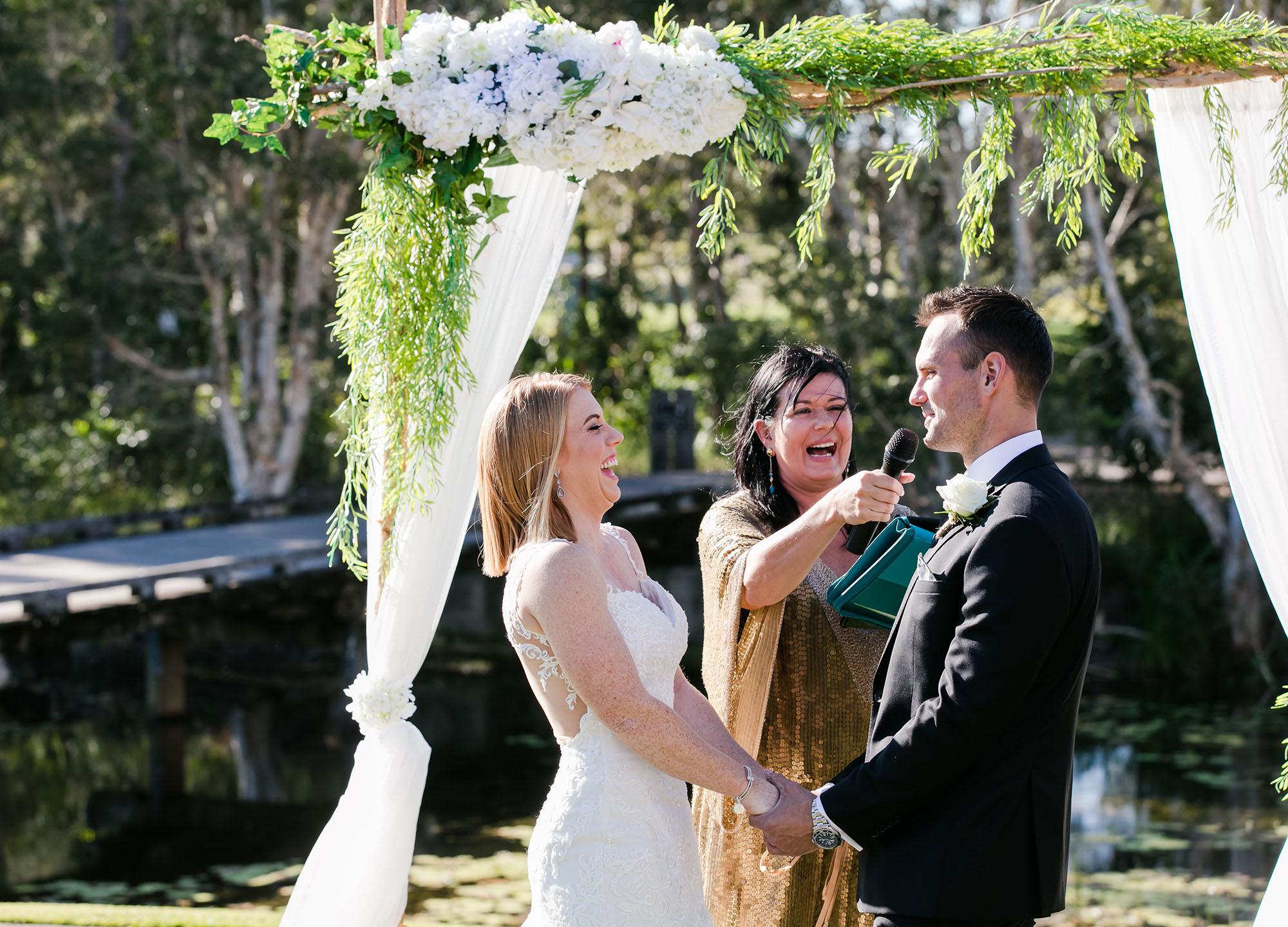Stephanie and Cameron Lymar's wedding.  Pelican Waters Golf Club wedding. Sunshine Coast wedding photographer, images by Lou O'Brien