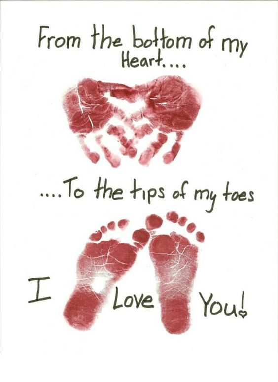 fathers day hand and foot print
