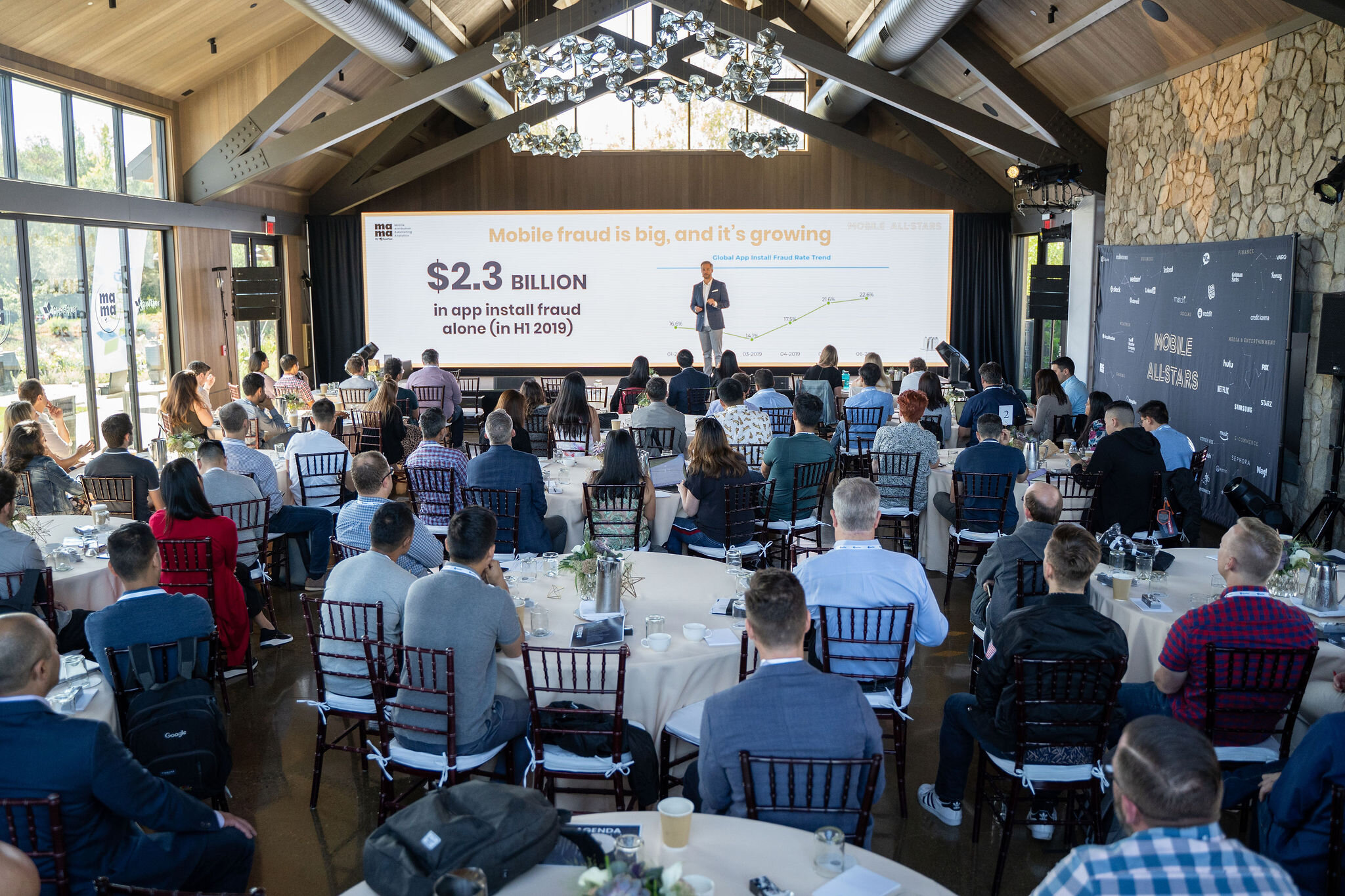 Speaking at Mobile Attribution & Marketing Analytics Conference in Napa, California (Sept-2019).  Photo credit:  Techboogie Media .