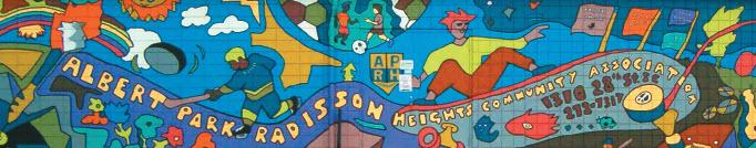 Albert Park-Radisson Heights community hall mural (Photo credit: City of Calgary)