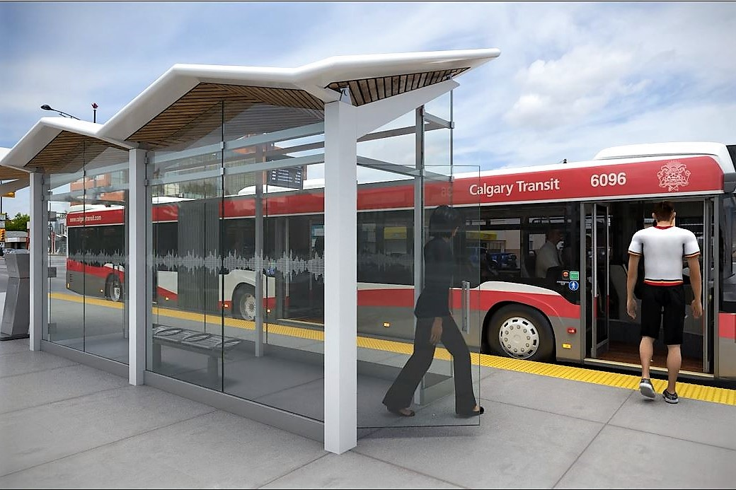 Rendering of the BRT Stations. Source: City of Calgary