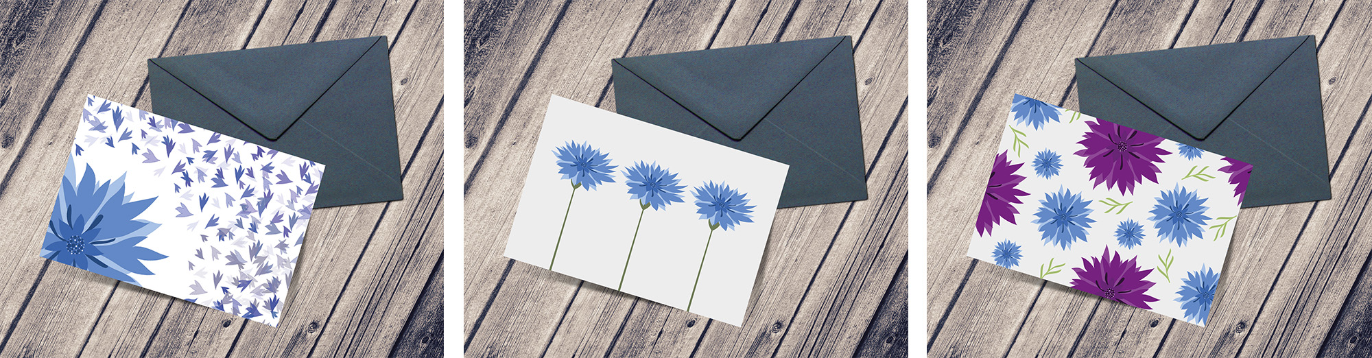 Despite having set out to only select two concepts, ALS decided to move ahead with 3 of the designs to create a family of greeting cards to be used for different purposes:      In Honour/Memory, General Messages and Celebration.