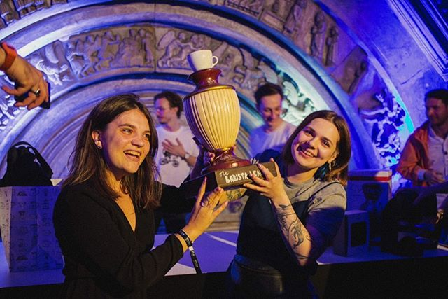 WINNERS OF THE BARISTA LEAGUE: ZAGREB, @ira_sharipova & @lisaqueer! 🎉🎉🎉 Congrats, Team Devushke v Kofe!!!!
