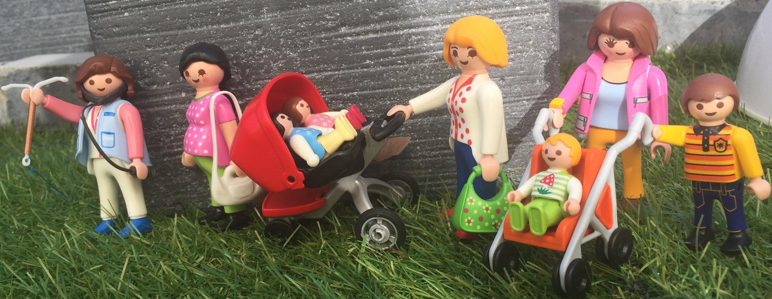 Playmobil avec poussettes et enfants