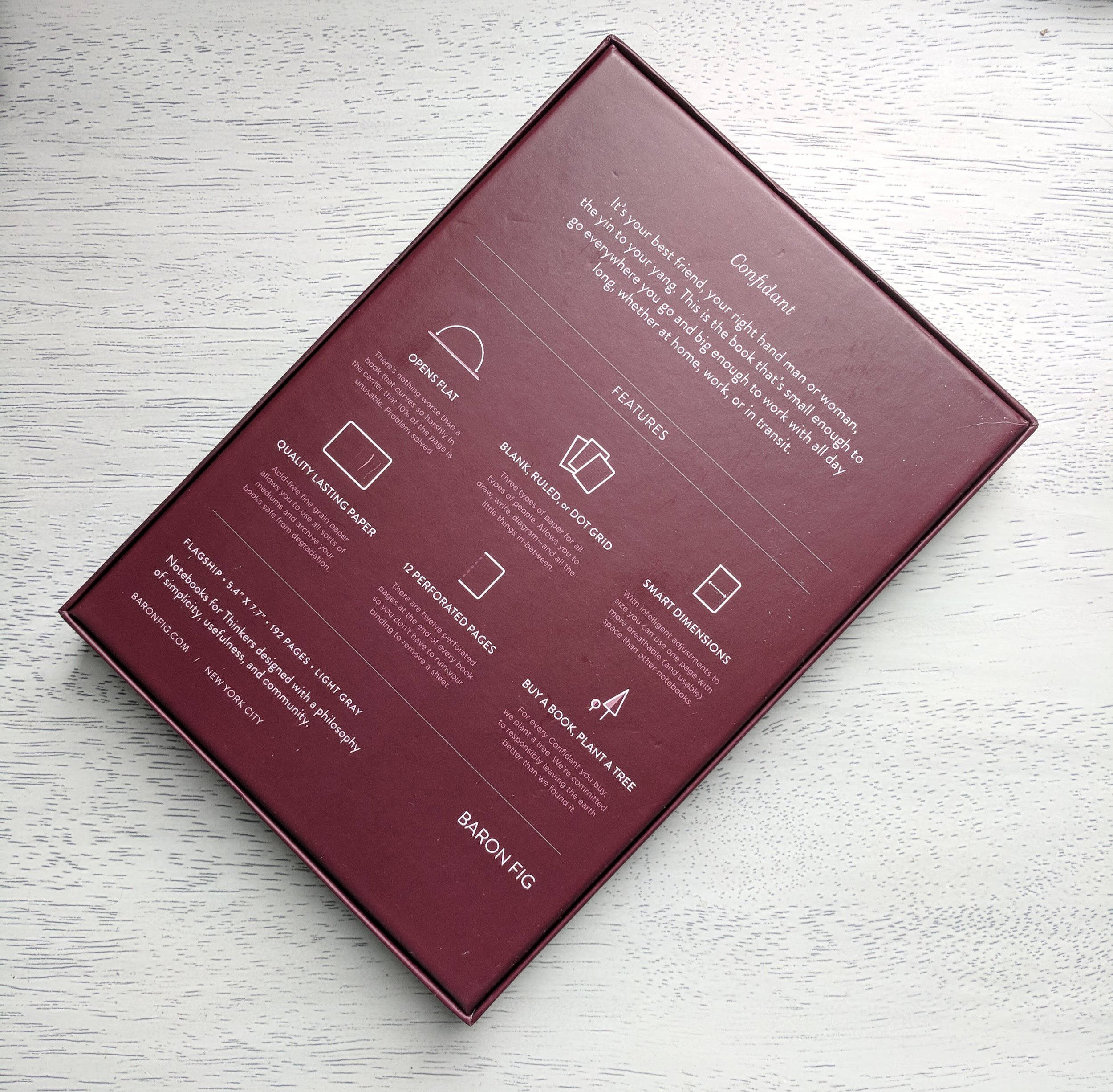 Baron Fig Confidant Notebook Review Packaging Back.jpg