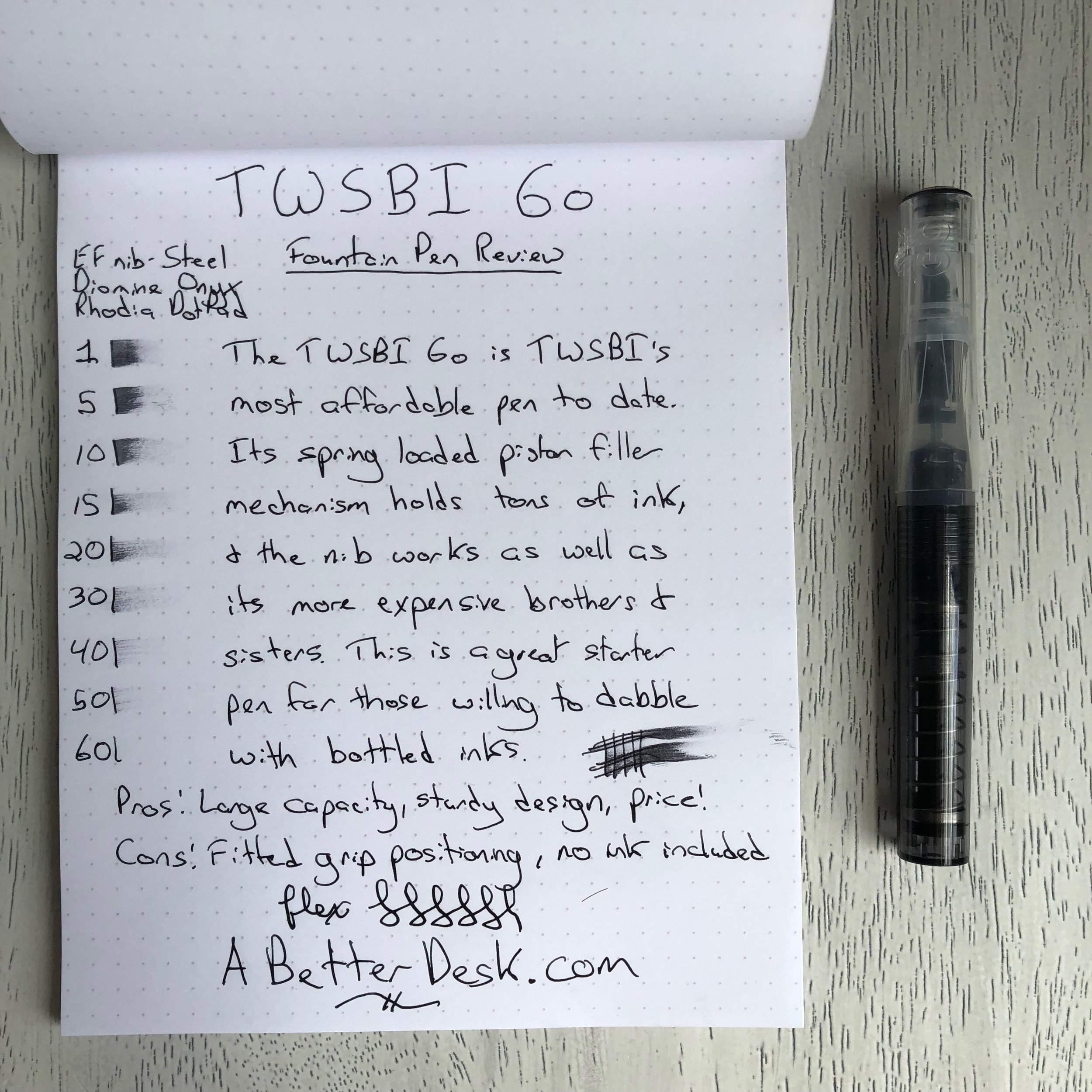 TWSBI GO Foutain Pen Review Handwritten Review .jpg