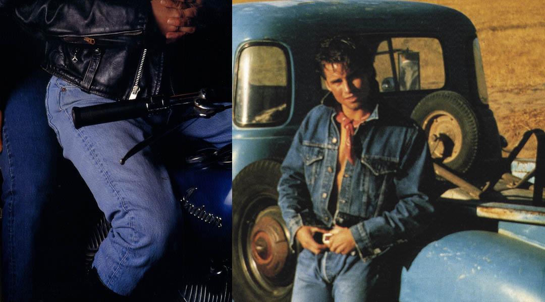 images l-r: ©Denim an American Story,(2007), Le Fabuleux roman du jean, levis story (1990)
