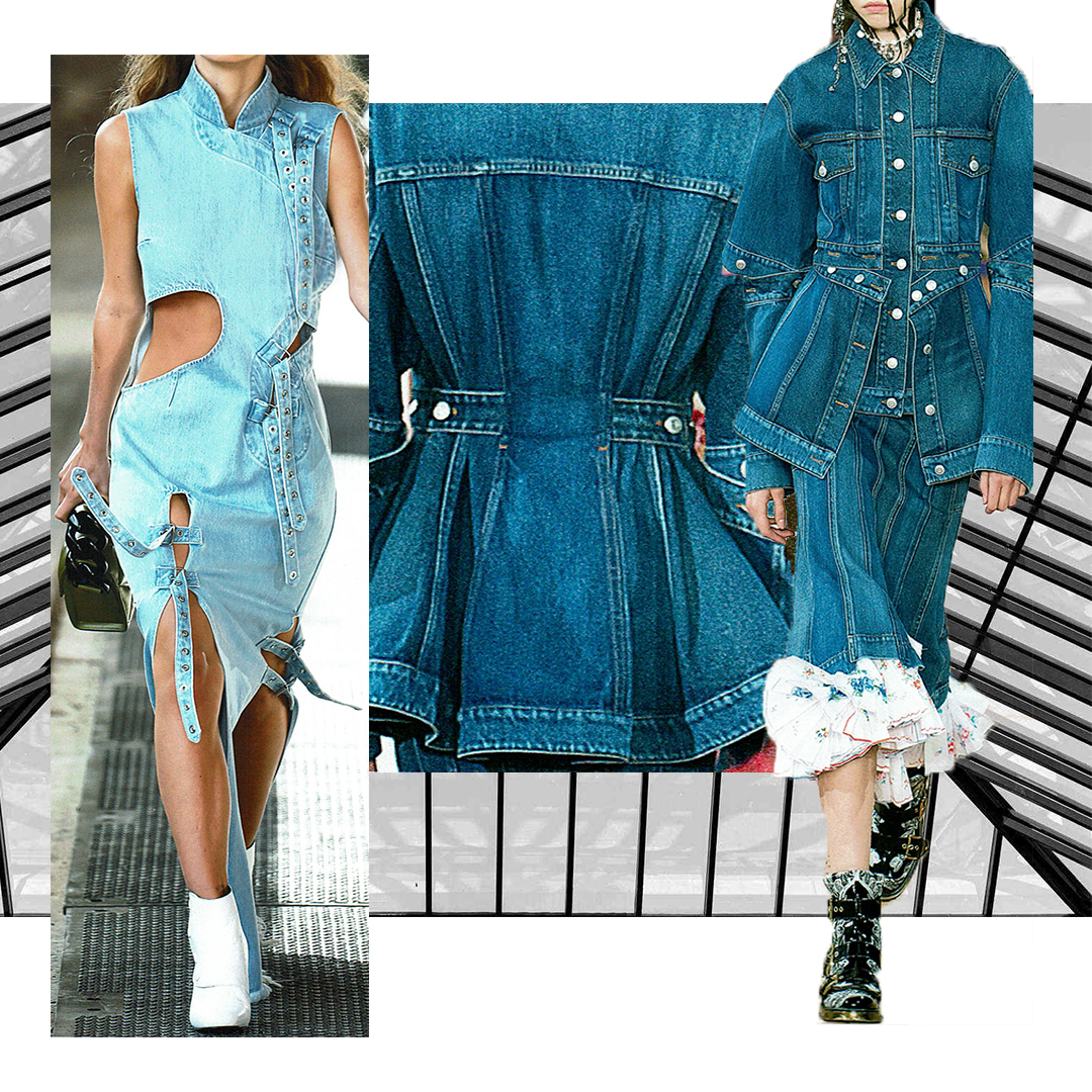 Designers: Left: Marques Almeida   Right and centre: Alexander McQueen