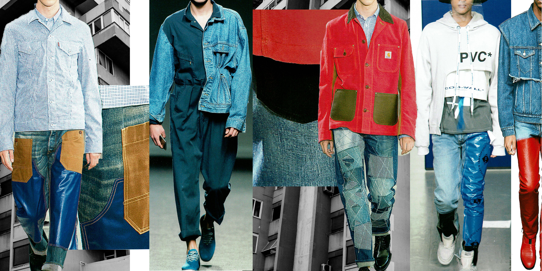 Designers (from left to right): Junya Watanabe Man, Lye Lysianne, Junya Watanabe Man A Cold Wall, John Lawrence Sullivan