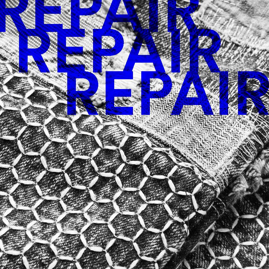Blue Patchwork Jeans by Blackmeans
