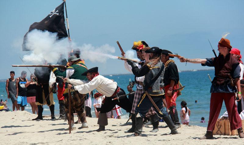 beach battle skirmish; Belmont Shores 2014