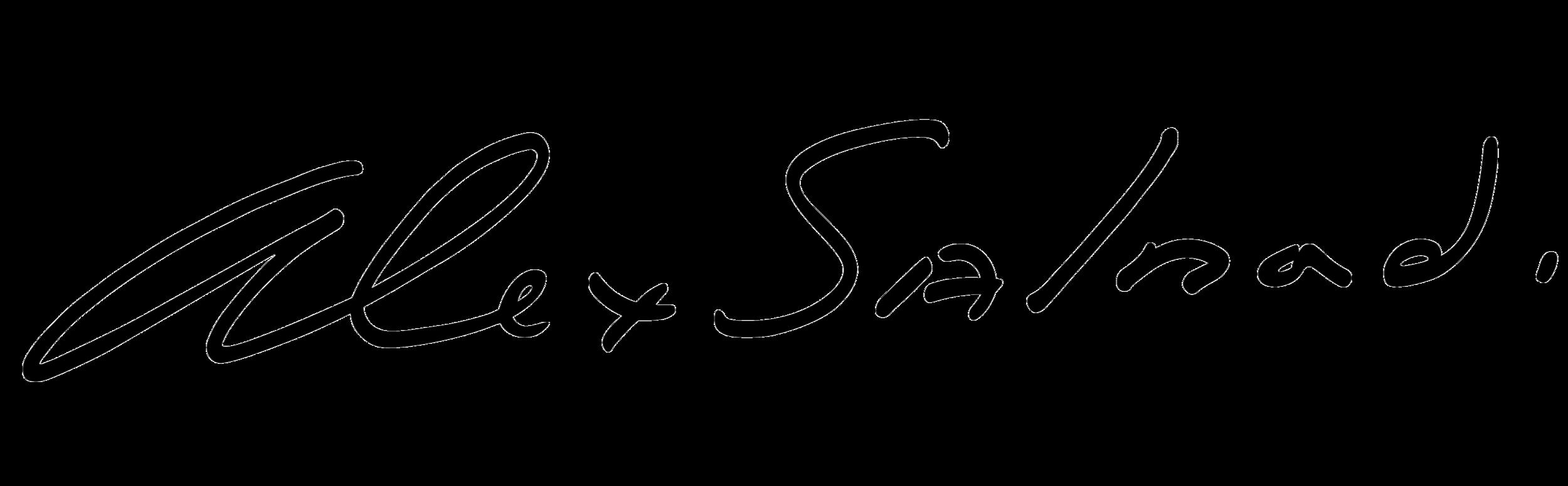 Black Alex Salmond signature