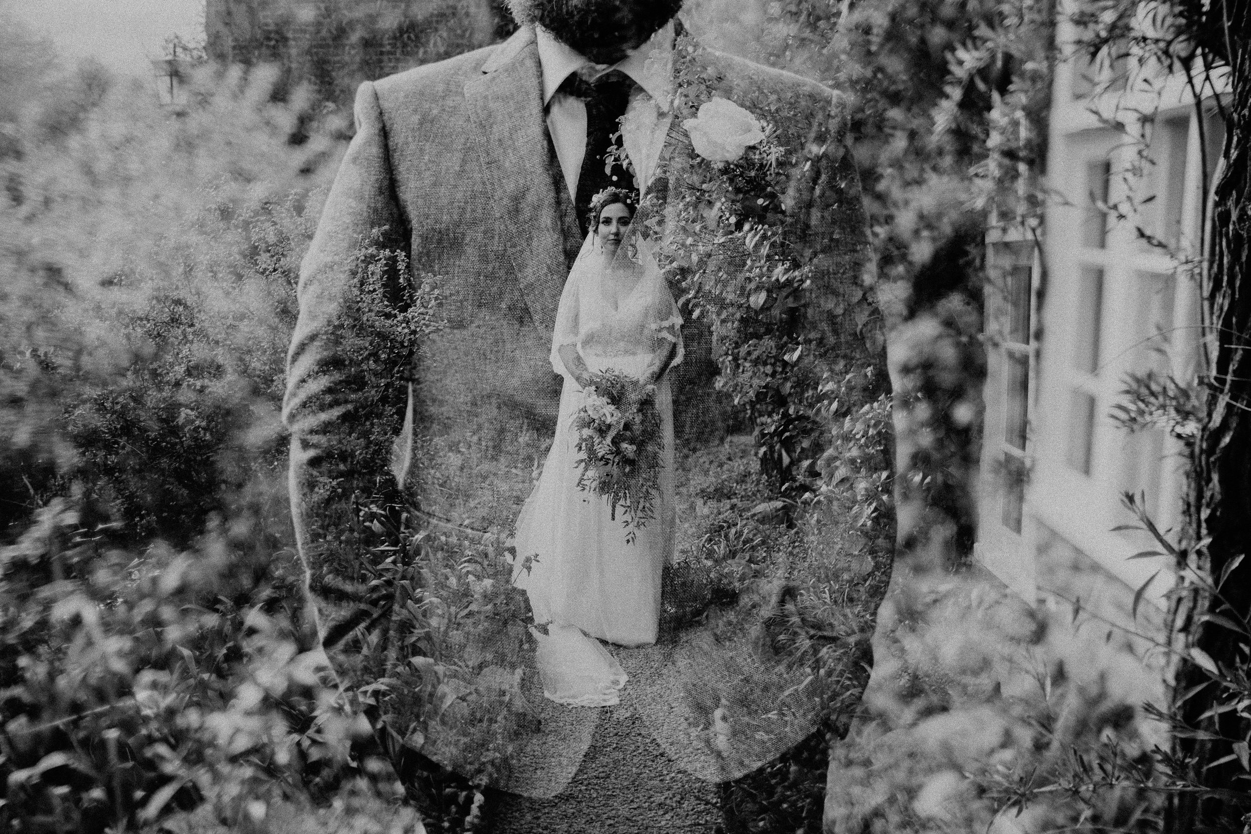 crook-hall-gardens-wedding-double-exposure
