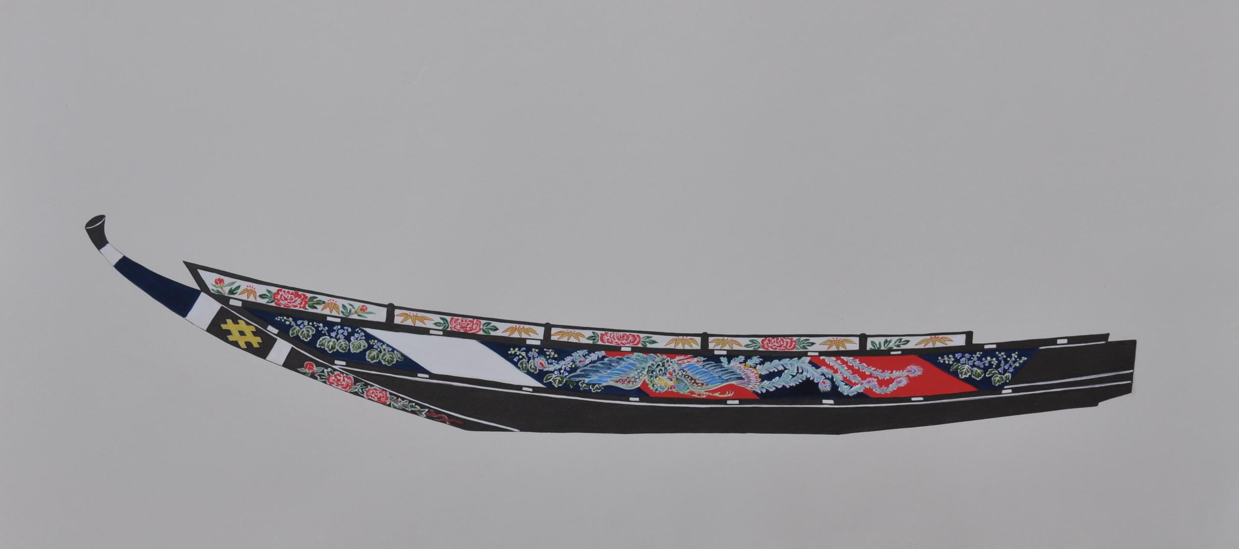 A traditional Sekobune whaling ship - Taiji, Japan