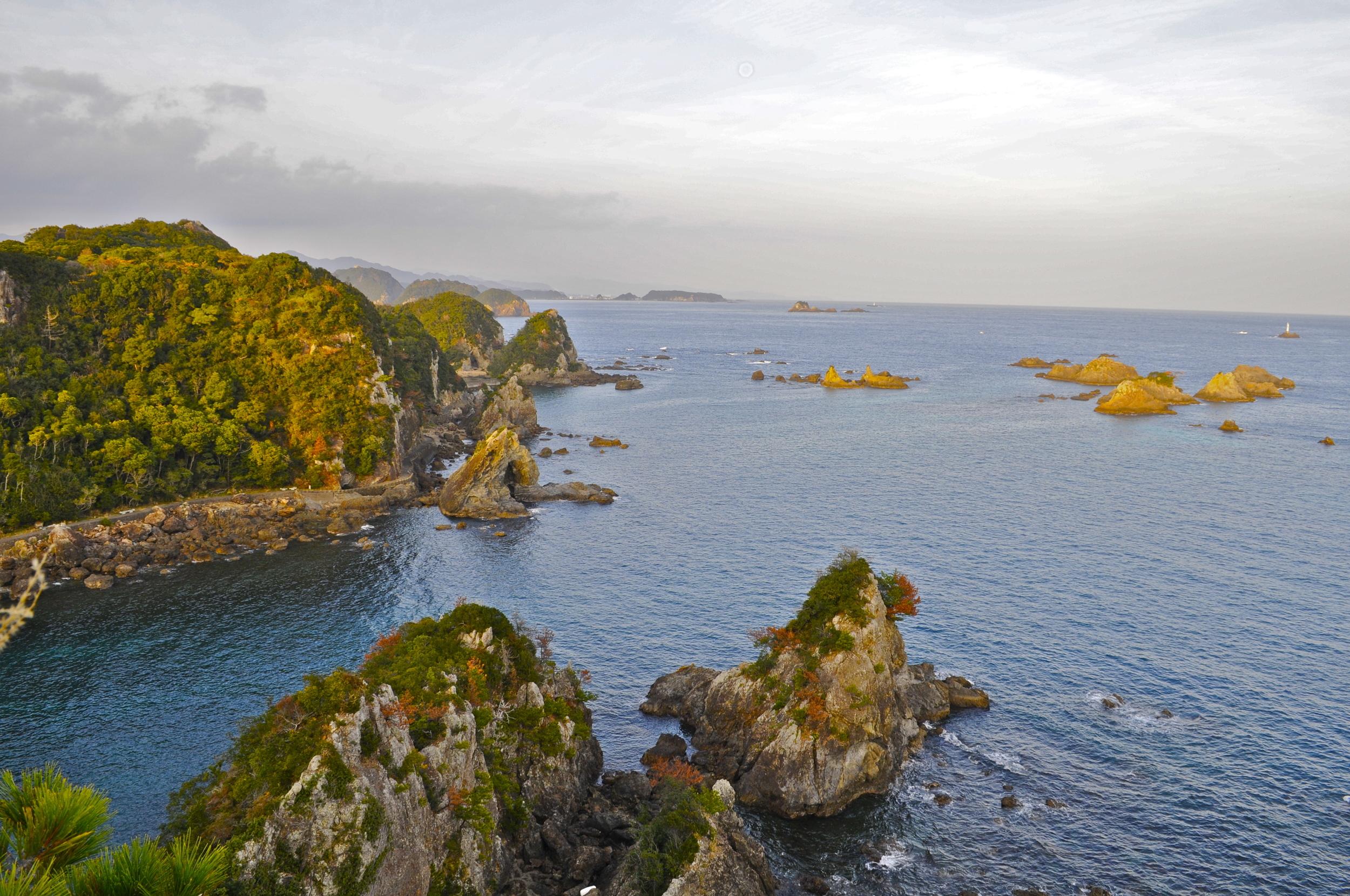 Hatakejiri Bay, also known as 'The Cove', Taiji, Japan.