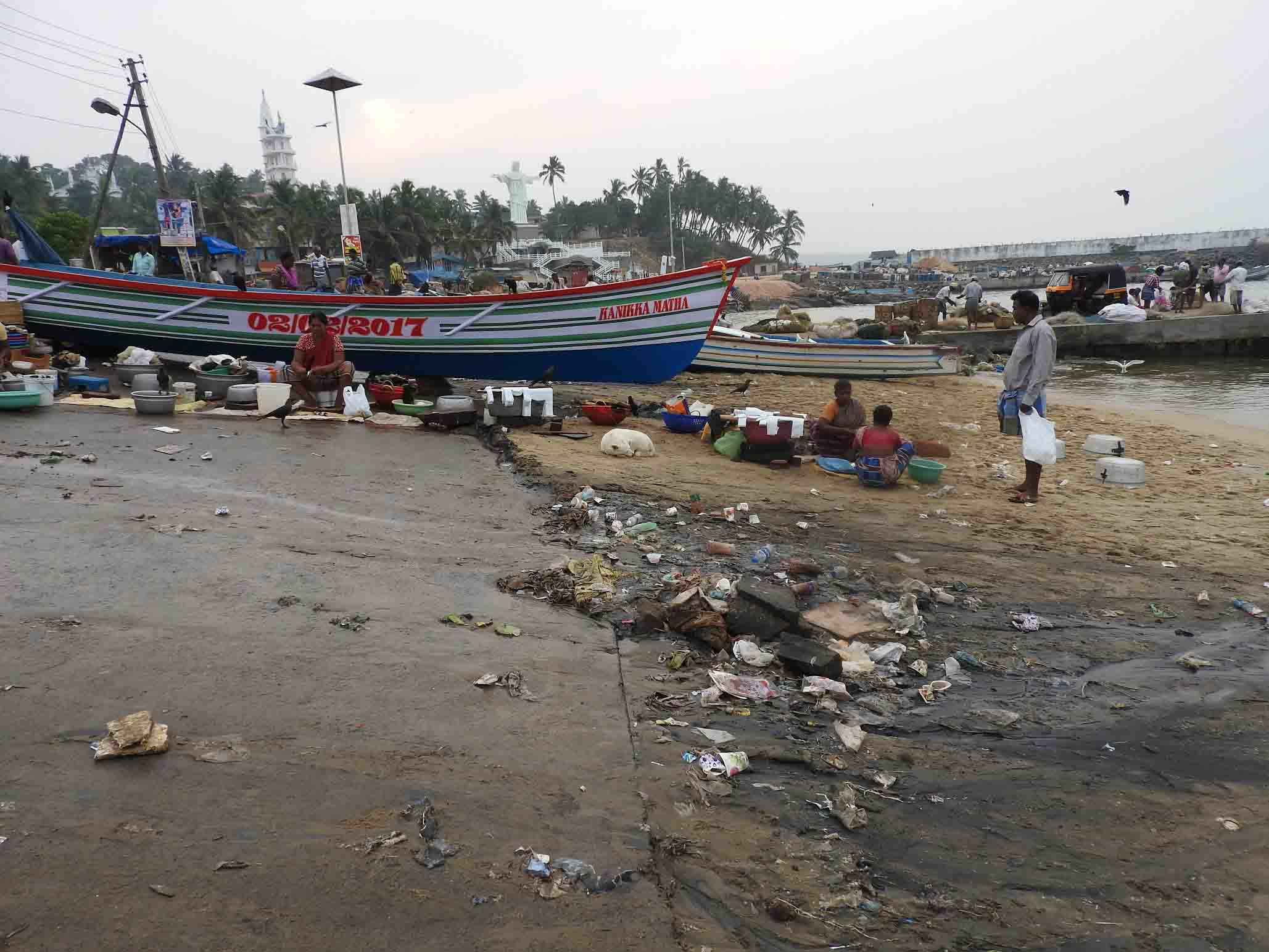 Vizhinjam Harbour is literally a rubbish dump with no adequate waste facilities and a lack of awareness causing enormous marine health issues.
