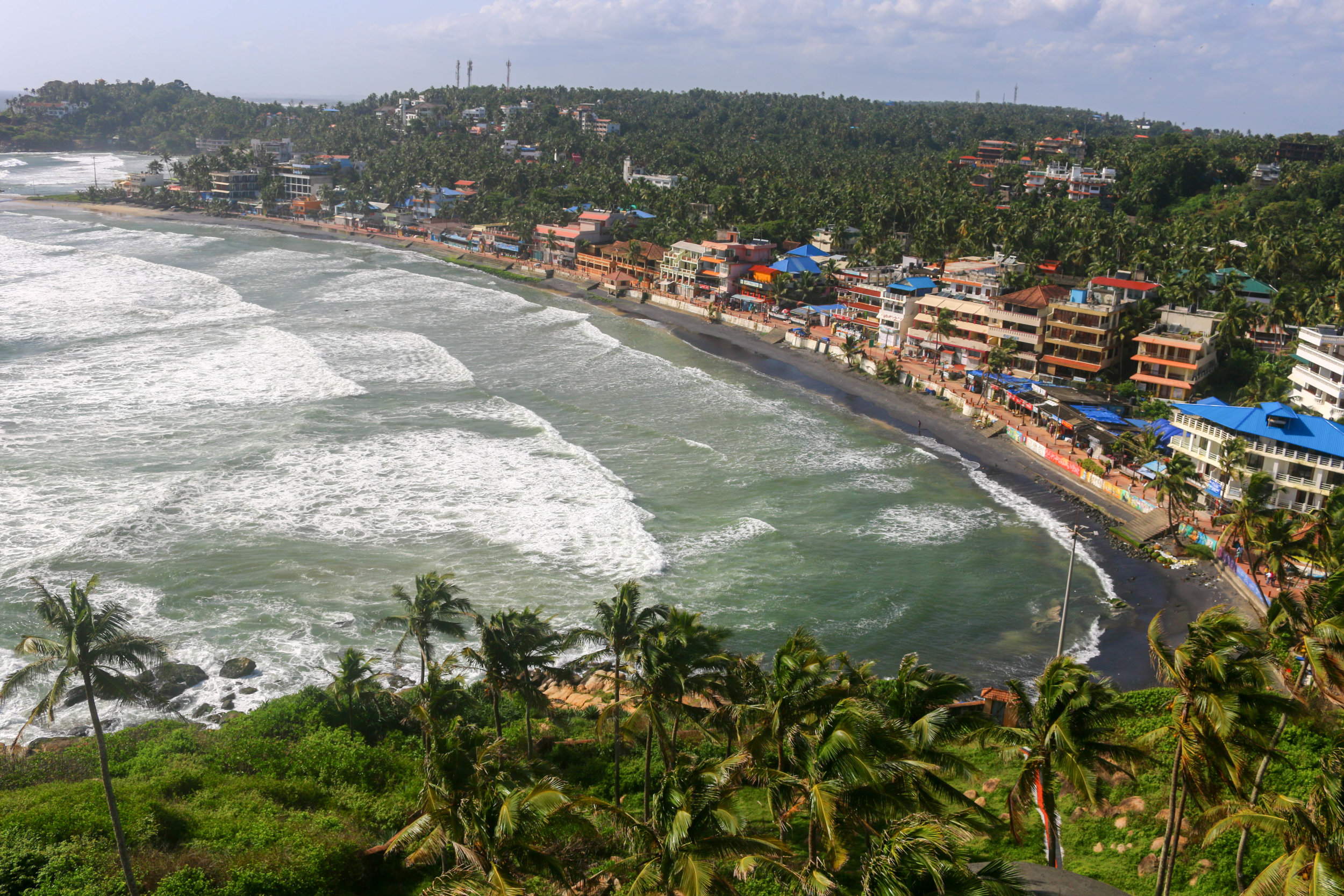 Lighthouse Beach - one of the many tourist destinations along the coast of Kerala, India and home of our new  Plastic Free for the Sea  initiative .