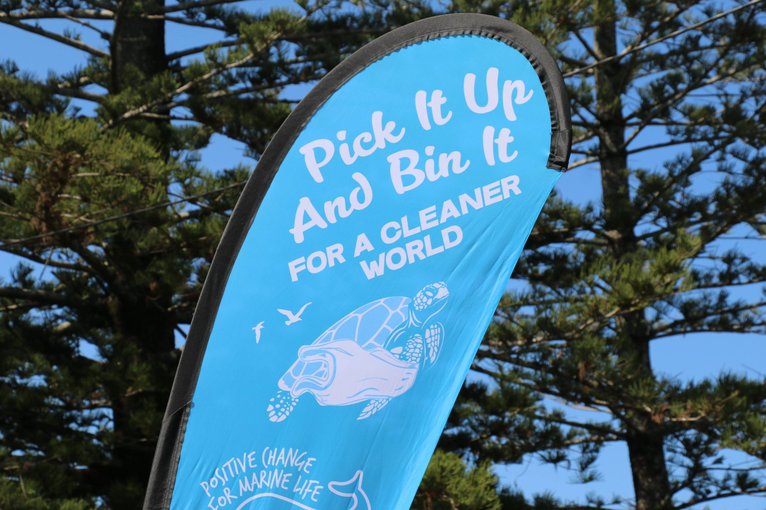We run our regular 'Pick It Up And Bin It' Initiative at Banner Park, Brunswick Heads, NSW. Photograph by Rodrigo.