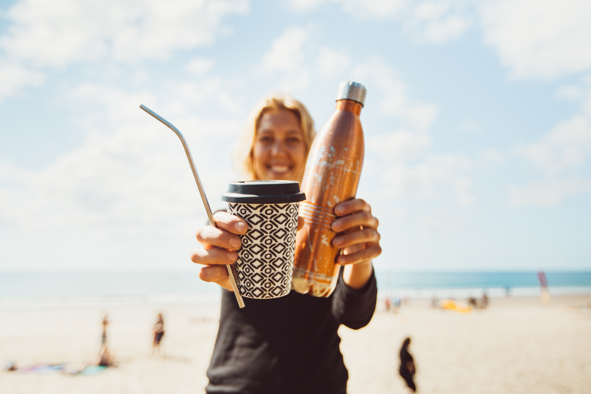 It's not that hard to go single-use plastic free! Purchase a metal straw, ceramic coffee cup or metal water bottle, and say no to plastic. Reduce your impact!  Photograph - Dane Scott Creative.